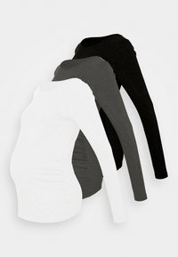 Anna Field MAMA - 3 PACK - Long sleeved top - black/dark grey/white - 0
