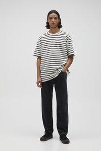 PULL&BEAR - Jeans straight leg - mottled dark grey - 1
