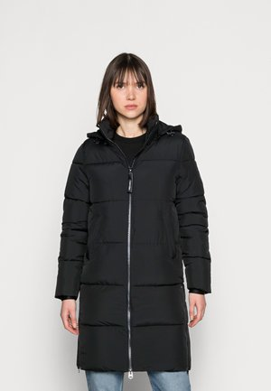 ELASTIC LOGO SORONA COAT - Vinterkåpe / -frakk - black