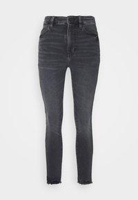 American Eagle - SUPER HI-RISE - Slim fit jeans - blue black - 4