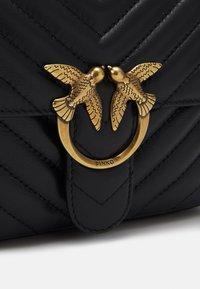 Pinko - LOVE MINI SQUARE QUILT - Handbag - black - 5
