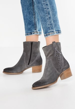 Cowboy/biker ankle boot - dark grey
