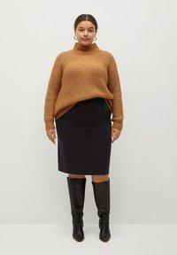 Violeta by Mango - CHOP - A-line skirt - black - 1