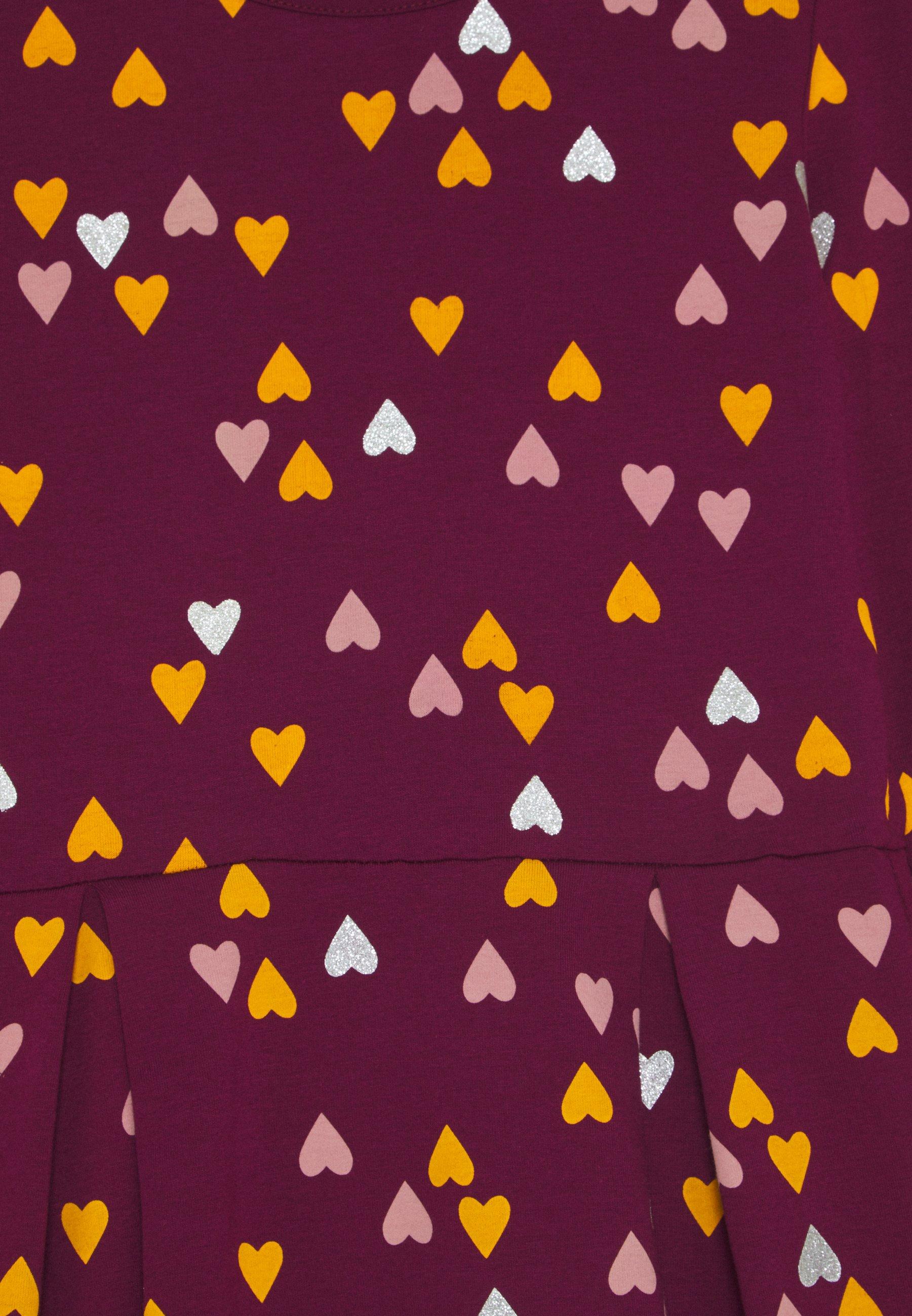 happy girls Sukienka z dżerseju - berry - Ubranka dla dzieci