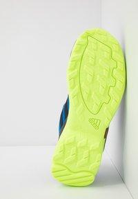 adidas Performance - TERREX AX2R UNISEX - Hiking shoes - glow blue/core black/signal green - 5