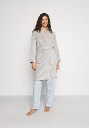 CLIPPED SHAWL COLLAR ROBE - Dressing gown - grey