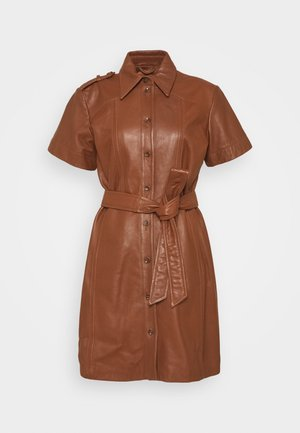 DRESS  - Shirt dress - tortoise shell