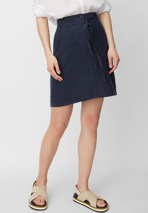A-line skirt - silent sea