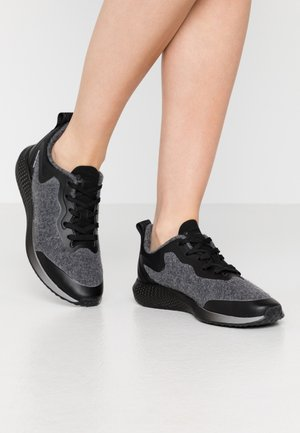 LACE UP - Baskets basses - shadow/black