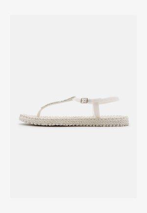 T-bar sandals - creme