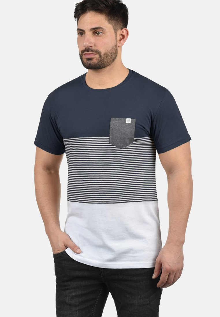 Solid - Print T-shirt - light gray