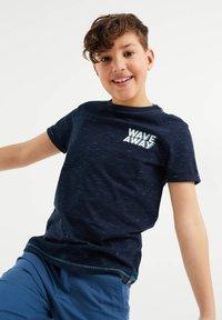 WE Fashion - Print T-shirt - dark blue - 1