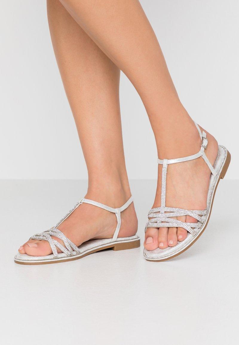CAFèNOIR - Sandals - argento