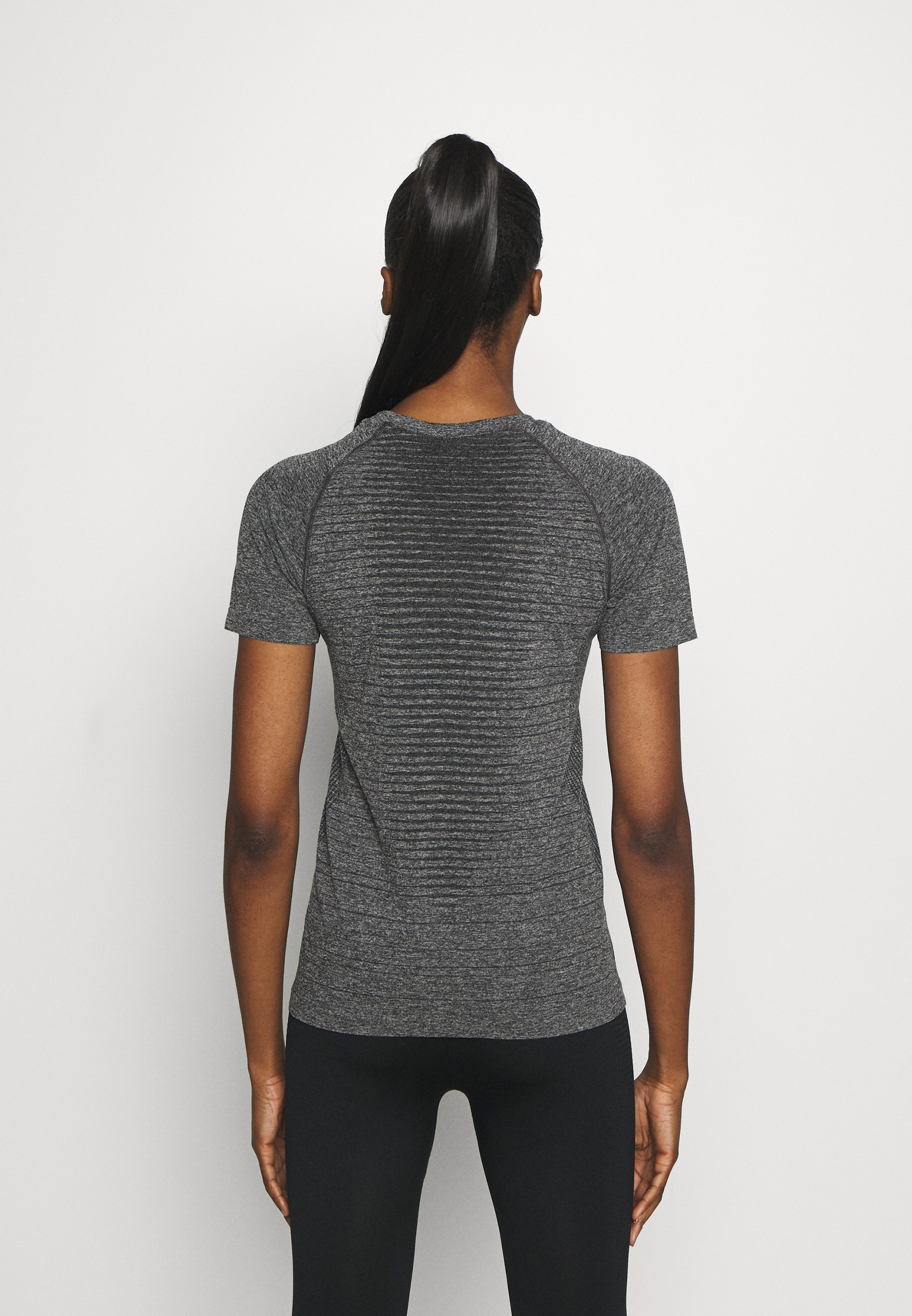 ODLO SEAMLESS - Print T-shirt - dark grey XCufg