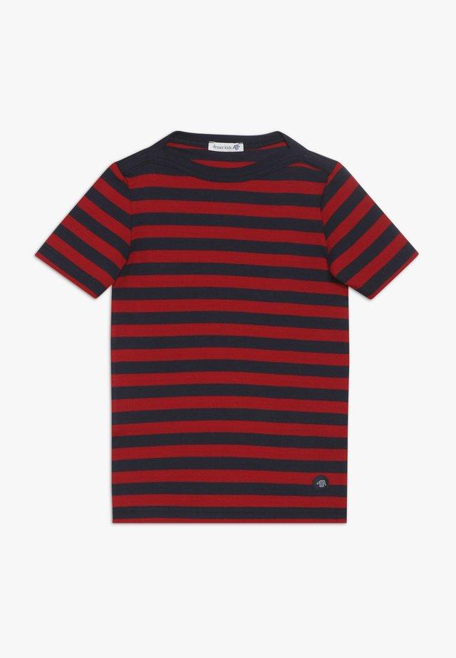 MARINIÈRE CARANTEC KIDS - Print T-shirt - navire/braise