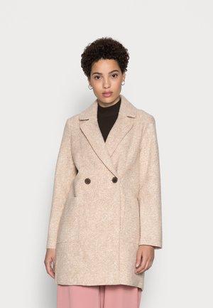 EASY BOUCLE COAT - Classic coat - powder beige melange
