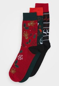 Jack & Jones - JACREINDEER SOCKS GIFTBOX 3 PACK - Socks - phantom/atlantic deep/bosso nova - 0