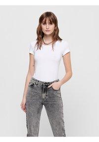 ONLY - PACK OF 3 - Basic T-shirt - black / black / white - 1