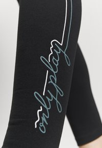 ONLY Play - ONPJOLIVIA LIFE - Tights - black/white/goblin blue - 3