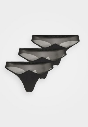 EVERYDAY G STRING 3 PACK - Thong - black/black/black