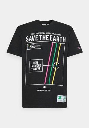 GRAPHIC SHOP CREWNECK - Print T-shirt - black/multicoloured