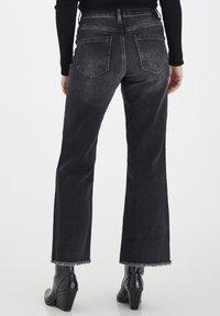 PULZ - PZLIVA  - Flared Jeans - black denim - 3