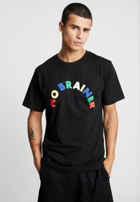 Cayler & Sons - NO BRAINER TEE - Print T-shirt - black - 0