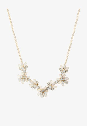 PCFLOWINA STONE NECKLACE - Smykke - gold coloured/clear/mop/white