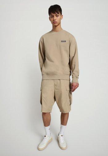 B-PATCH CREW - Sweatshirt - mineral beige