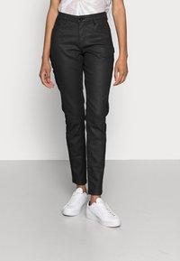 Opus - EVITA COATED - Jeans Skinny Fit - black - 0