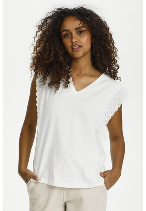 CRSANAL  - Print T-shirt - snow white