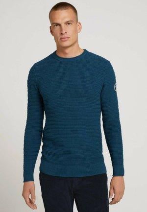 Strickpullover - ultra marine blue melange