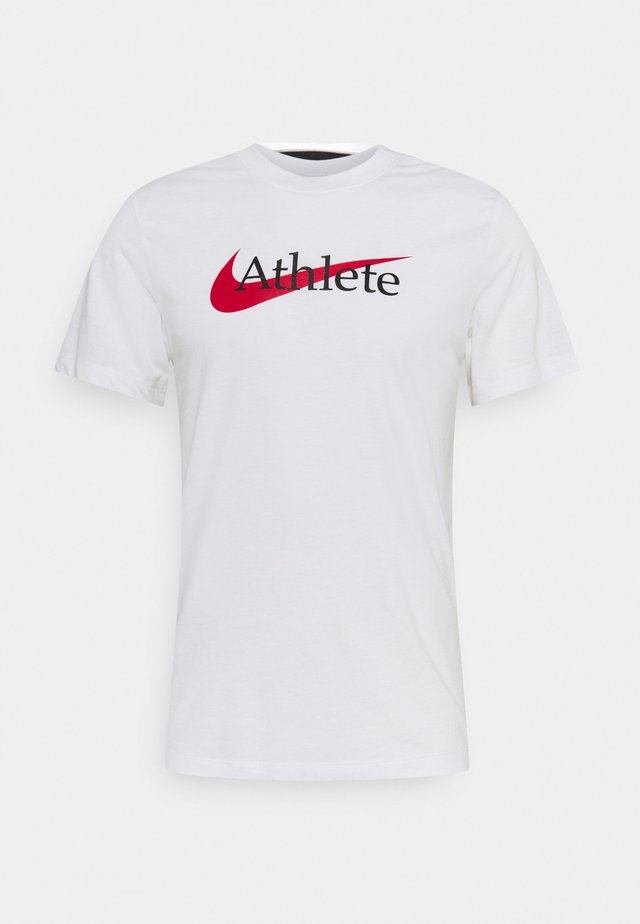 TEE ATHLETE - Triko s potiskem - white/university red
