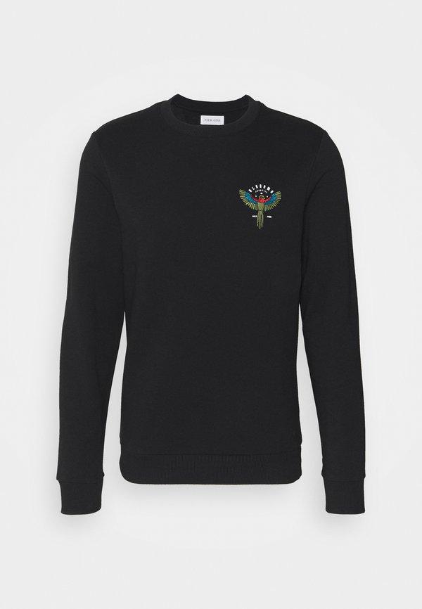 Pier One Bluza - black/czarny Odzież Męska OUBU