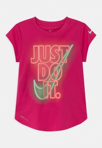 Nike Sportswear - GLOW IN THE DARK - T-shirt print - fireberry - 0