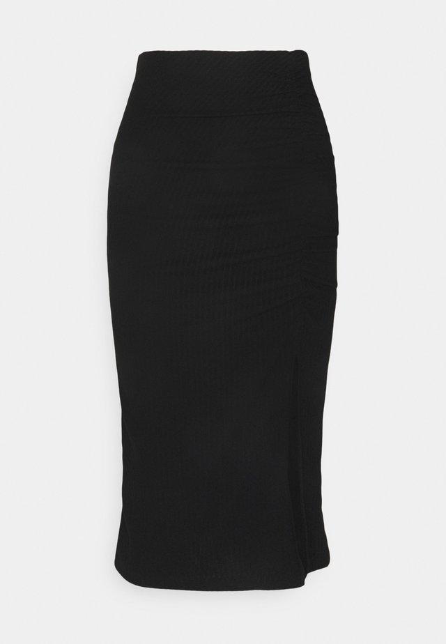 ONLNELLA SLIT SKIRT - Blyantnederdel / pencil skirts - black