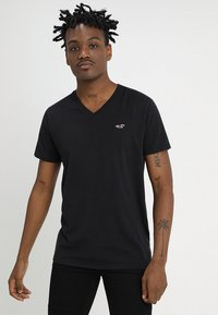 Hollister Co. - 3 PACK - T-shirt basique - black/white/grey - 3