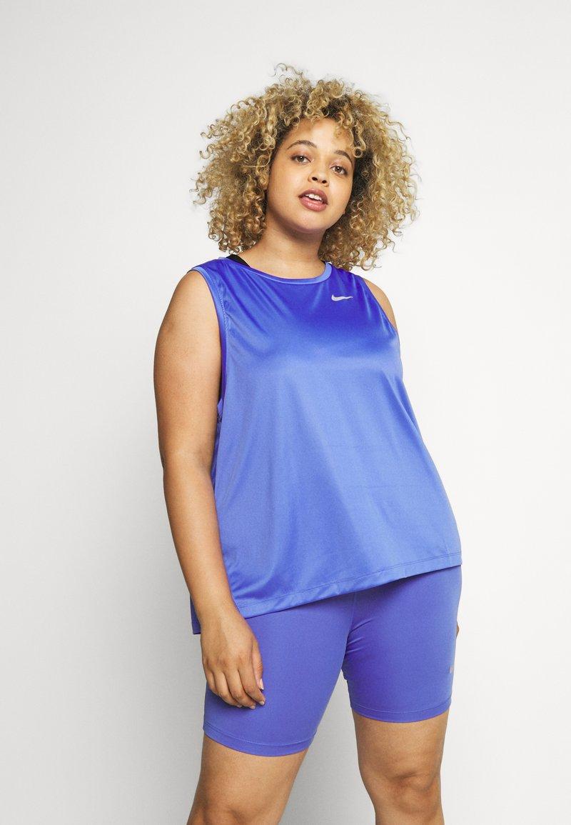 Nike Performance - MILER TANK PLUS - Sports shirt - sapphire/reflective silver