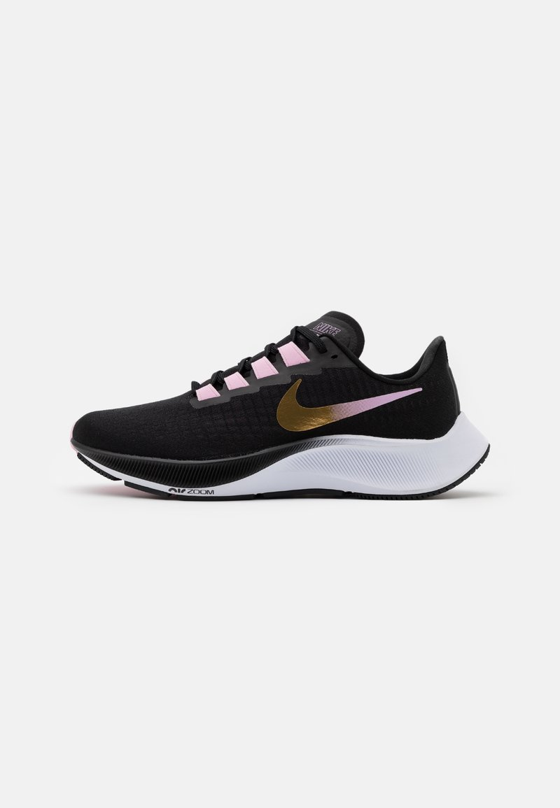Nike Performance - AIR ZOOM PEGASUS 37 - Obuwie do biegania treningowe - black/metallic red bronze/light arctic pink/white