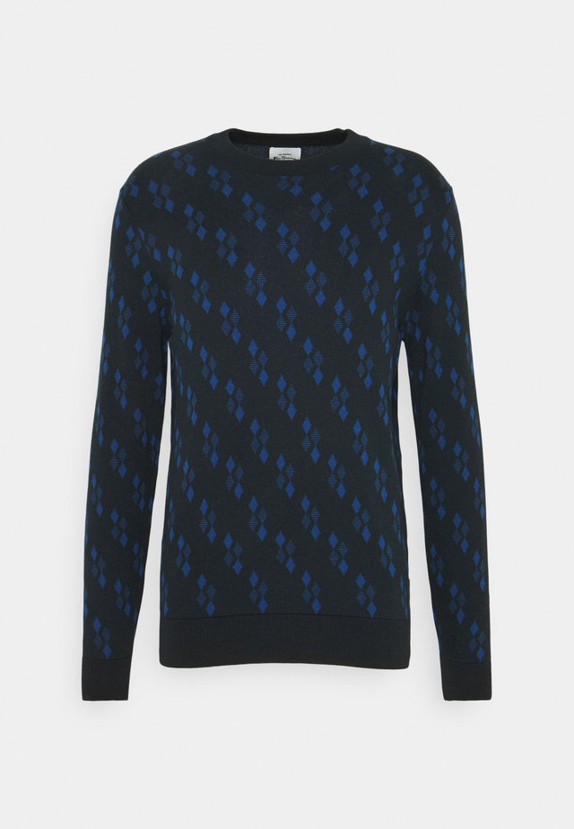 ALL OVER GEO - Pullover - dark navy