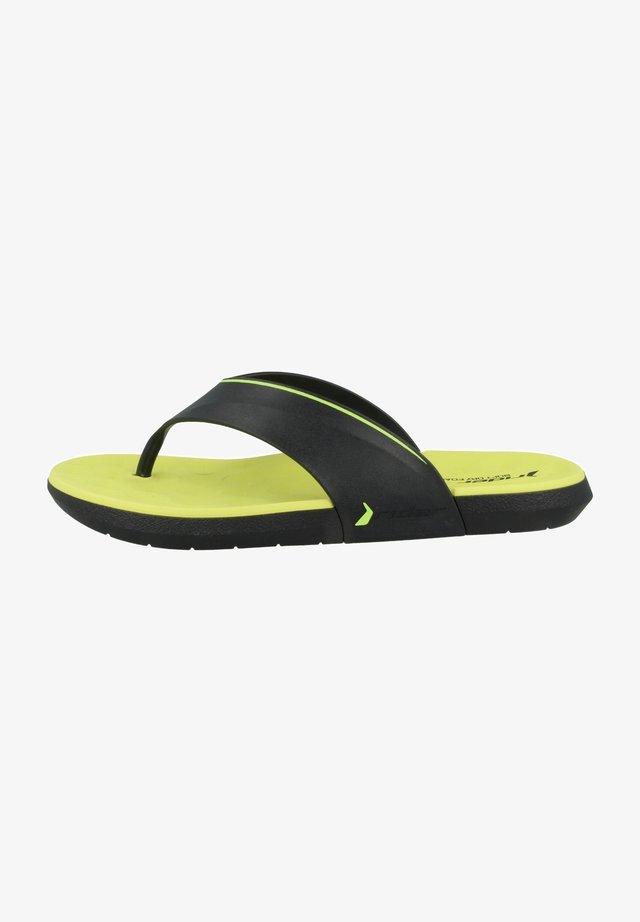 INFINITY IV THONG AD - Sandaler m/ tåsplit - black/green