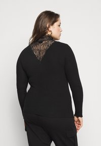 Pieces Curve - PCSIRI TURTLENECK - Strikkegenser - black - 2