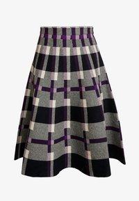 Derhy - OBERKAMPF - A-line skirt - black/purple - 4