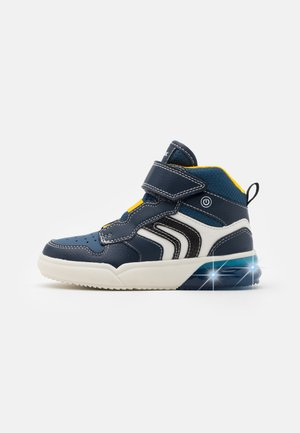 GRAYJAY BOY - Sneakersy wysokie - navy/yellow