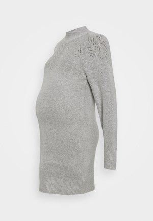 PONTELLE YOKE DRESS - Jumper dress - grey marl