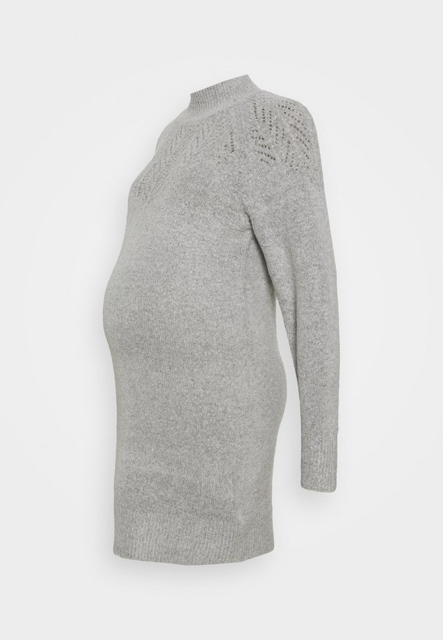 PONTELLE YOKE DRESS - Pletené šaty - grey marl