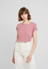 Vero Moda - VMAVA PLAIN - T-shirt basic - mesa rose - 0