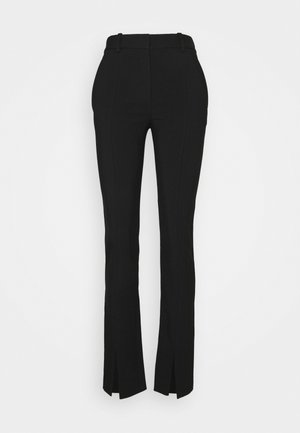 FRONT SPLIT TROUSER - Trousers - black
