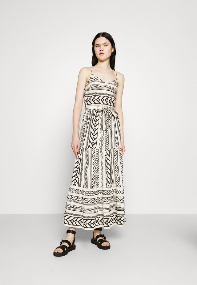 VMDICTHE SINGLET ANCLE DRESS - Maxikleid - birch/dicthe/black