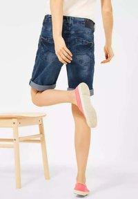 Cecil - Denim shorts - m blue denim - 2